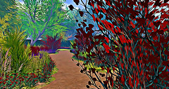Path of an Angel (Sparkie Cyberstar) Tags: garden flowers effect befunky secondlife virtualworld