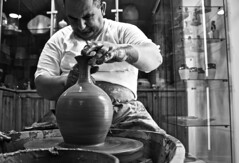 The Artisan (GianlucaChincoli) Tags: portrait man working artisan pottery pot pots clay art making blackwhite bw blackandwhite interesting ruleofthirds perspective contrast shades light naturallight studio interacting people society exploring surroundings realism realistic monochrome photojournalism photography shot shooting canon camera dslr