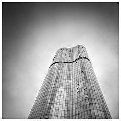 ABIAN (Jaka Pirš Hanžič) Tags: brisbane city queensland qld australia building architecture black white bw monochrome skyscraper abian clouds cloudy square vignette