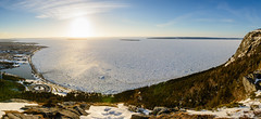 Conception Bay - Covered in Ice (Pano) (bonavistask8er) Tags: nikon d7100 1755 natural light nature cbs conception bay south newfoundland winter ice sea ocean sunset landscape pano panorama lightroom