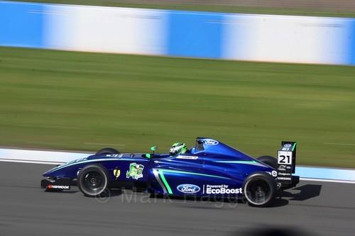 Patrik Pasma in British F4 Race One during the BTCC Weekend at Donington Park 2017: Saturday, 15th April