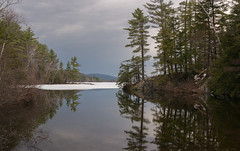 ice out on twitchell pond (jtr27) Tags: dsc04098fr01 jtr27 sony alpha nex6 nex emount mirrorless sigma 1770mm f284 macrooshsmc macro os hsm contemporary twitchellpond pond lake maine reflection newengland mc11 adapter landscape