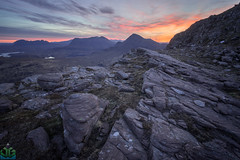Sgorr Tuath Dawn (James G Photography) Tags: uploadedviaflickrqcom sgorrtuath sunrise dawn scotland assynt coigach skyfire highlands culmor redlight stacpolliadh stacpolly suilven ullapool wildcamping unitedkingdom gb