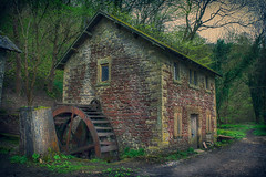 Not much Milling. (Ian Emerson) Tags: mill derbyshire wye powered marble old derelict abandoned moss wheel steel stone trees rust outdoor canon water