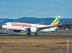 ET-ATJ (Skidmarks_1) Tags: etatj ethiopian boeing787 engm norway osl oslogardermoenairport aviation aircraft airport airliners