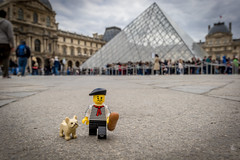 Marcel, a Parisian in Paris (at the Louvre) (Ballou34) Tags: 2017 7dmark2 7dmarkii 7d2 7dii afol ballou34 canon canon7dmarkii canon7dii eos eos7dmarkii eos7d2 eos7dii flickr lego legographer legography minifigures photography stuckinplastic toy toyphotography toys stuck plastic louvre museum 7d mark 2 ii eos7d eiffel tower bread baguette dog seine water river cloud cloudy clouds berret stripes moustache parisian paris îledefrance france fr