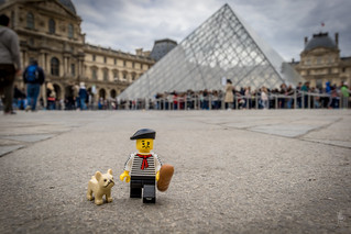 Marcel, a Parisian in Paris (at the Louvre)