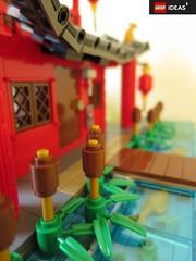 Riverside (yetanothermocaccount) Tags: lego moc ninjago chinese asian tea kungfu park garden architecture ideas rush google gmail