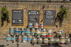 All in a row (stevefge) Tags: 2017 london uk pubs wall history historic dickens shakespeare southark