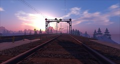 ~ Down The Line ~ (Nico Time) Tags: secondlife railroadtracks traintracks