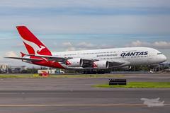 VH-OQG QF A380 34L YSSY-7314 (A u s s i e P o m m) Tags: mascot newsouthwales australia au qantas qf airbus a380 syd yssy sydneyairport