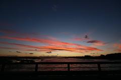 Waitaki River Sunset (PalmyLisa) Tags: sunset night sky landscape waitaki river otago newzealand water bridge