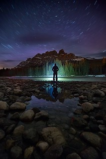 Goodnight all from the Canadian Rockies! Have a wonderful weekend and get out there. :-) Self-portrait, Castle Mountain, Banff National Park. Manfrotto Canon Canada