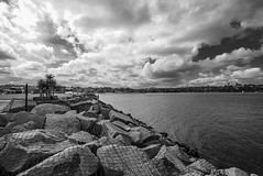 DSC00570 (Damir Govorcin Photography) Tags: clouds blackwhite rocks natural light wide angle cockatoo island sydney harbour sony a7rii creative perspective zeiss 1635mm water