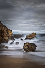 Influx (Marty Friedel) Tags: torquay victoria sand landscape australia surf rough weather clouds hightide beach ocean movement seascape water sea waves rocks