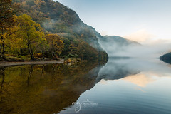 misty morning at the Glendalough (Pastel Frames Photography) Tags: glendaloughwicklow national park irelandupperlake reflections water mist fog mountains autumn colour nature canon5dmark3 canon 2470 landscape