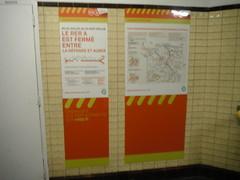 Closed (RubyGoes) Tags: paris france rer yellow orange tiles ratpfr