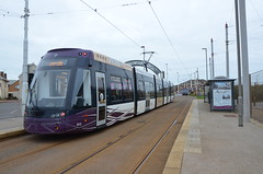 Blackpool Tram 012, Starr Gate (sgp_rail) Tags: blackpool tram street streetcar car electric bombardier flexity 2 lancs lancashire nikon d7000 april 2017 sea front prom promenade starr gate