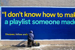 Spotify (Always Hand Paint) Tags: 2017 b181 brooklyn bushwick music newyork ooh onlineservice spotify spotifyprogress advertising alwayshandpaint colossal colossalmedia handpaint mural muraladvertising outdoor progress skyhighmurals streetlevel sunny winter