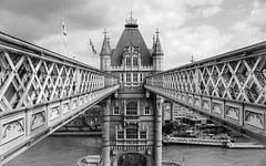 Tower Bridge (michald*) Tags: towerbridge london architecture blackandwhite monochrome sonya7rii perspective
