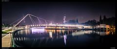 Belle Liégeoise - Liege @ Night (Falcdragon) Tags: ilce7 sonya7alpha minoltaaf50mmf17 panorama cityscape river meuse de maas liège night longexposure starburst belleliégeoise