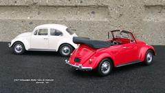 1967 Volkswagen Beetle Sedan & Cabriolet (JCarnutz) Tags: 124scale diecast franklinmint 1967 volkswagen beetle cabriolet