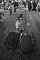 Travelling Girl, pt.2 (fonzi74/gbCrates) Tags: street bw white black blackwhite candid gb revolutionary sh sort christensen emil crates chr hvid fotografi frederik gade sorthvid revolutionr hyer gadefotografi fonzi74 gbcrates hyerchr