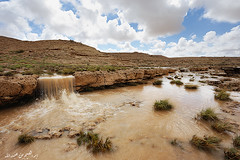 ( ibrahim) Tags: sky sun nature rain stone clouds sunrise canon landscape photography eos waterfall desert photos drought  ibrahim  6d abdullah rill hilux                altamimi  canon6d                almethnab