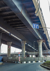 Under the blue highway (galloper_) Tags: road blue canon stpetersburg construction highway under saintpetersburg primorsky bluehighway 600d 24105mm aivashintsov