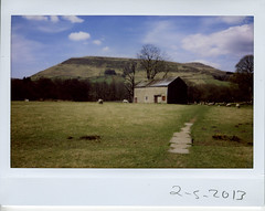 Thursday 2nd May 2013 (ronet) Tags: barn fuji utata scanned edale instax instantfilm thursdaywalk utata:project=tw367