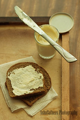 ( | Asha) Tags: breakfast bread knife brownbread woodbackground creamcheesespread