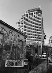 Tel Aviv graffiti (Ilya.Bur) Tags: street israel mural fuji tel aviv 28mm 200 neopan cl acros nikkormat f35 ft2 caffenol nikkorhc