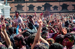 Holi festival, Kathmandu, Nepal (Andrew Taylor Photography) Tags: nepal colour festival crowd celebration kathmandu subject colourful festivity holi royalpalace durbarsquare hanumandhoka happyholi basantapurdurbarsquare colouredpowder trailokyamohannarayantemple playholi