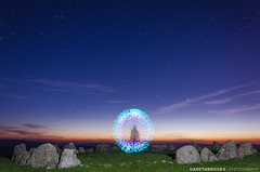Beam me up Scotty! (Gareth Brooks) Tags: longexposure startrek lightpainting stars trekkie geeky transporter engage stonecircle beammeupscotty garethbrooks historicstonecircle ancientnorthwales