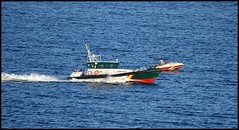 Guardia civil patrol boat (B1GBAD) Tags: travel sea film beach beauty speed coast boat interesting spain scenery wake sanjose playa drugs paraiso almeria cabodegata parquenatural paraisonatural bellezanatural playasandalucia almeriaturistica hmsspaincom