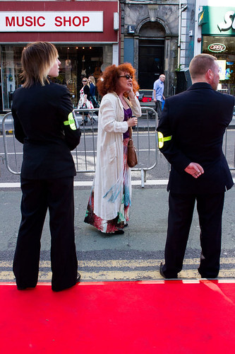 Guests arriving at the European premiere of Breathe In at Festival Theatre