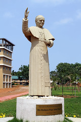 "Albertian Institute of Science and Technology (AISAT Technical Campus) - Engineering College - Statue of Pope Blessed John Paul II • <a style=""font-size:0.8em;"" href=""http://www.flickr.com/photos/98005749@N06/9179454757/"" target=""_blank"">View on Flickr</a>"