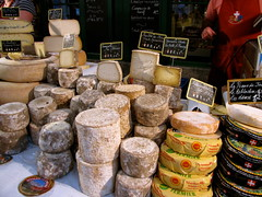 Fromages (K.G.Hawes) Tags: street food france annecy wheel cheese french foods market outdoor wheels creative commons cc creativecommons vendor fromage marche cheeses chevre vendors fromages