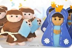 Santo Antônio e Nossa Senhora (Casinha de Pano) Tags: handmade felt feltro santo chaveiro santoantônio lembrancinhas nossasenhoraaparecida