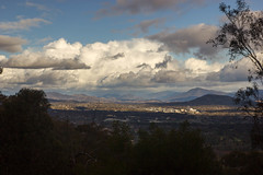 Blue Mountain View (A Sarky Tyke) Tags: blue mountain storm black clouds view australia stormy canberra act