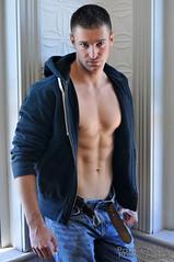 Nate 017 (Violentz) Tags: shirtless portrait man male guy model nate torso bodybuilder beefcake physique physiquemodel