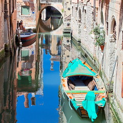Reflections in the water (PeterYoung1.) Tags: venice italy water beautiful reflections colours scenic squareformat atmospheric