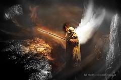 The Descent (Ian Thurlby) Tags: angel fire wings rocks dante hell descent heat sword