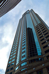 Fomer_Washington_Mutual_Tower_Seattle_Washington (S E Brendel) Tags: seattle city blue sky black reflection building tower public glass skyline architecture modern club clouds america skyscraper reflections spectacular mirror washington downtown skyscrapers angle post state pacific northwest architecturaldetail steel library central angles modernism perspectives bank center columbia highrise third windowns elegant avenue scape rainer 1201 3rd municipal highrises modernist postmodernism centralbusinessdistrict tallest mutual dow cen seafirst of
