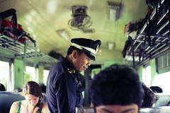 ticket check (Maksim Million) Tags: travel train thailand police sigma t3i 30mm 600d