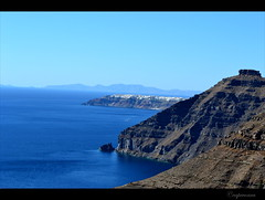 Santorini: Thira (capreoara) Tags: island volcano nikon september santorini greece caldera cyclades thira 2013 d3100