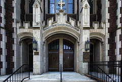 PeachTree Christian (Mr_Pixels) Tags: brown building brick church stone canon worship doors photographer faith religion shift front structure entryway archtecture awp awphoto awphotography aubreywilliams 5dmarkiii eftse17mmf4l