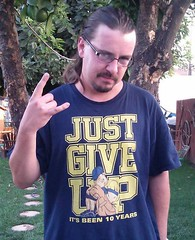 "Dominick Tuchscherer rocking his ""Just Give Up"" threads"