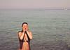 girl in the sea (gorbot.) Tags: sea summer italy sun beach lumix sicily roberta colorefex dmcgf1 post250913