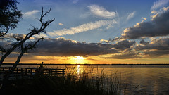 Summer's Last Shimmer (James_Burden) Tags: sunset reeds fisherman capefearriver carolinabeachstatepark